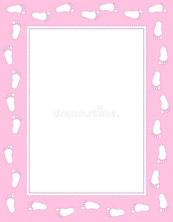 De voetafdruk van de baby stock illustratie
