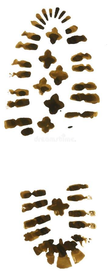 Download De voetafdruk van de laars stock illustratie. Afbeelding bestaande uit vuil - 4178429