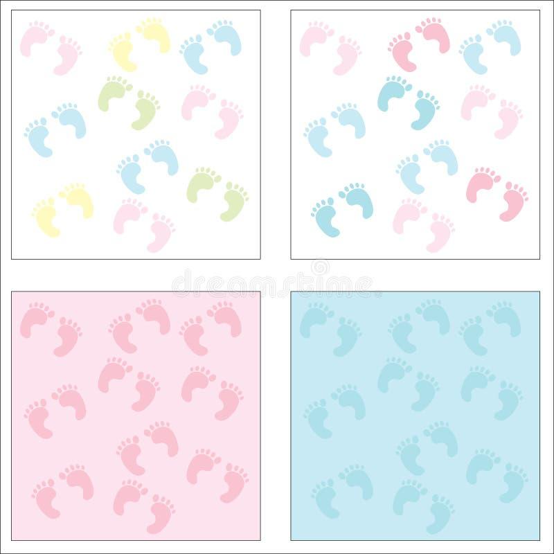 De Voetafdrukken van de baby stock illustratie