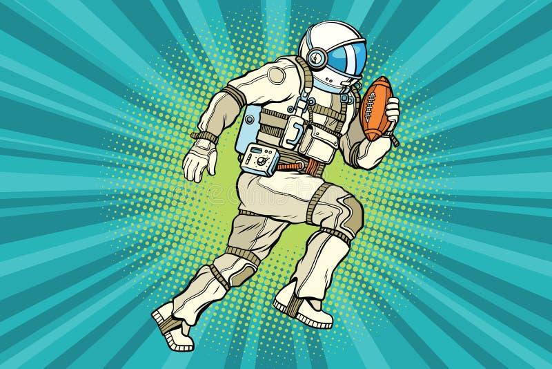 De voetbal van American van de astronautenatleet vector illustratie