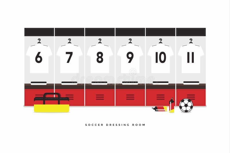 De Voetbal van Argentinië of de kleedkamer van het voetbalteam De Voetbal van Duitsland of de kleedkamer van het voetbalteam vector illustratie