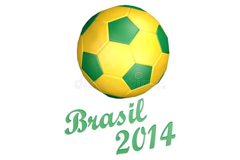 De Voetbal 2014 van Brazilië stock illustratie