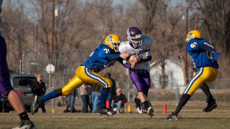 De voetbal van de middelbare school stock afbeelding