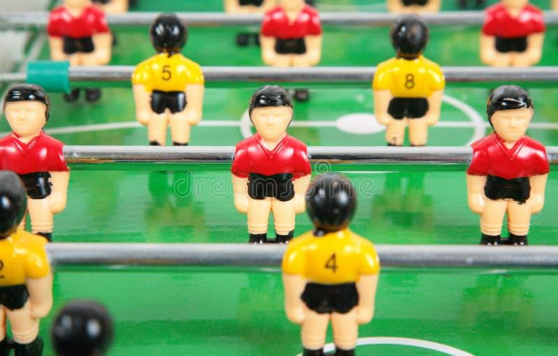 De voetbal van het stuk speelgoed stock foto's