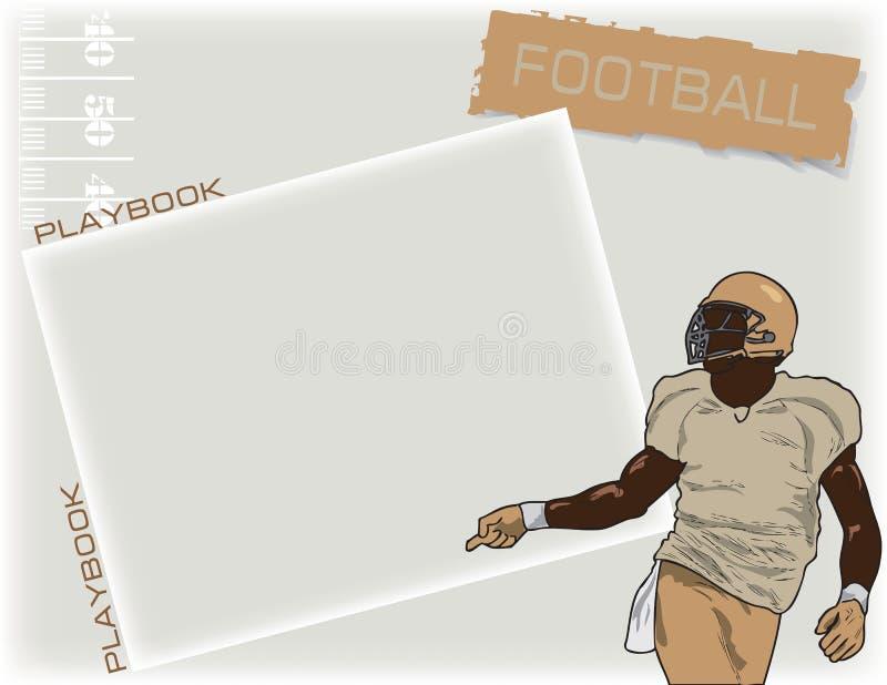 De voetbal van Playbook royalty-vrije illustratie