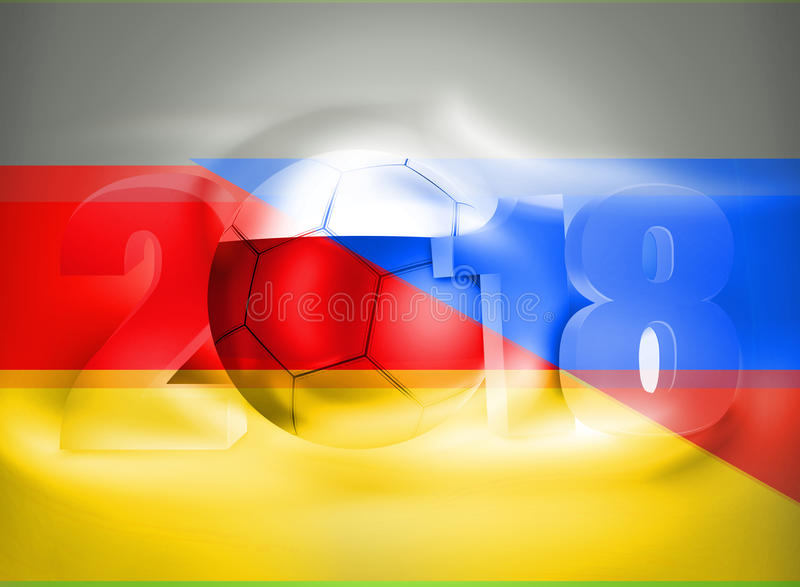 2018 de Voetbal van Rusland Duitsland vector illustratie