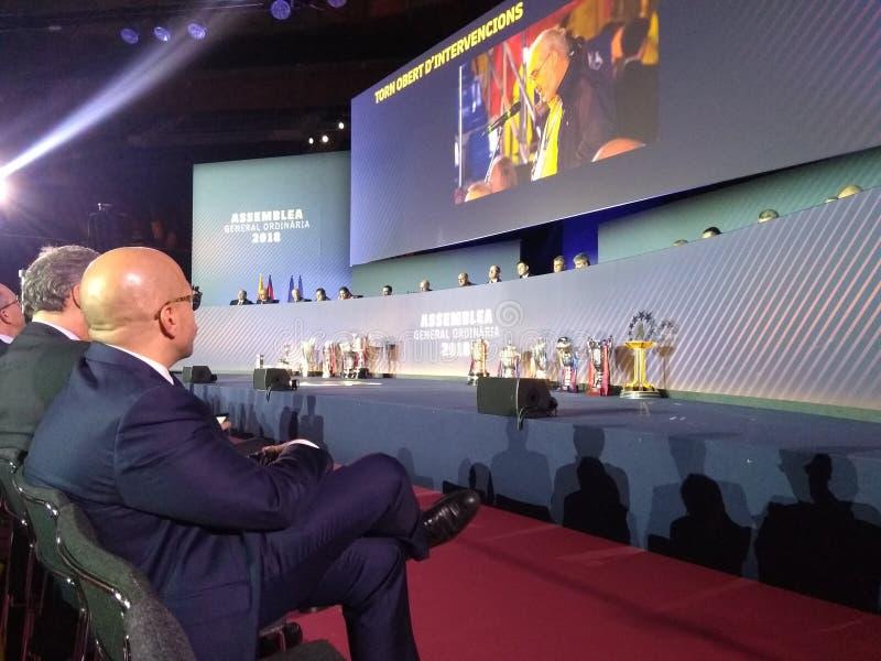 De voetbalclub Assemby van Barcelona Raad van bestuurleden stock afbeelding