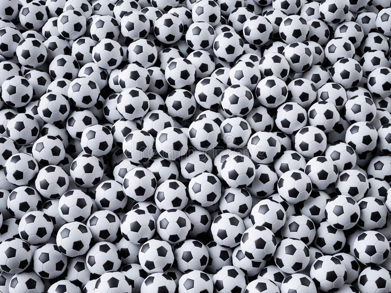 De voetbalconcept van het sportvoetbal royalty-vrije illustratie