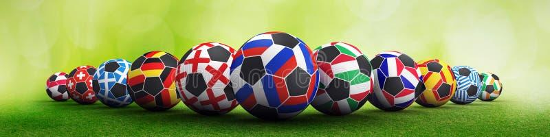 De voetbalconcept van Rusland en van naties stock foto's