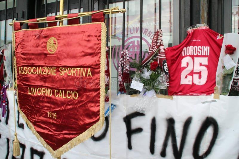 De voetbalherdenking Morosini van Livorno stock afbeelding