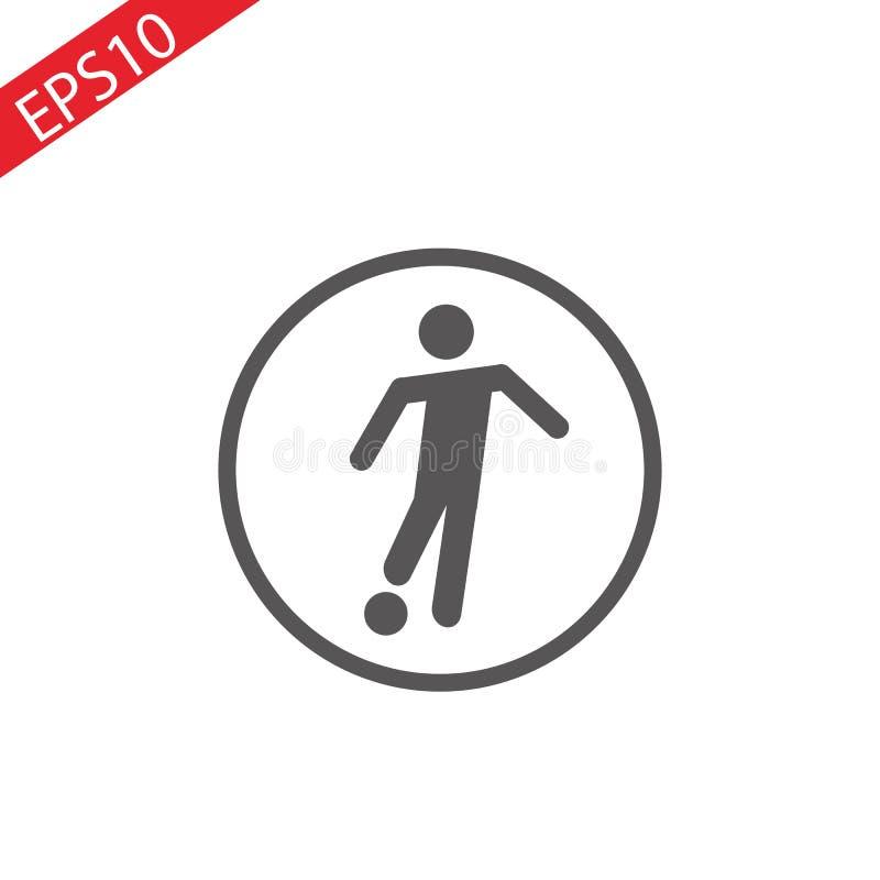 De voetballer die de bal schoppen detailleerde silhouet De voetbal door:sturen pictogram sticik royalty-vrije illustratie