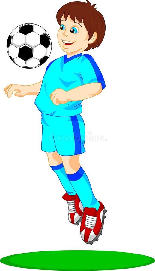 De voetballer van de Cutecutejongen royalty-vrije illustratie