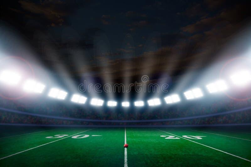 Download De Voetbalstadion Van Amerika Stock Afbeelding - Afbeelding bestaande uit exemplaar, lichten: 107705027
