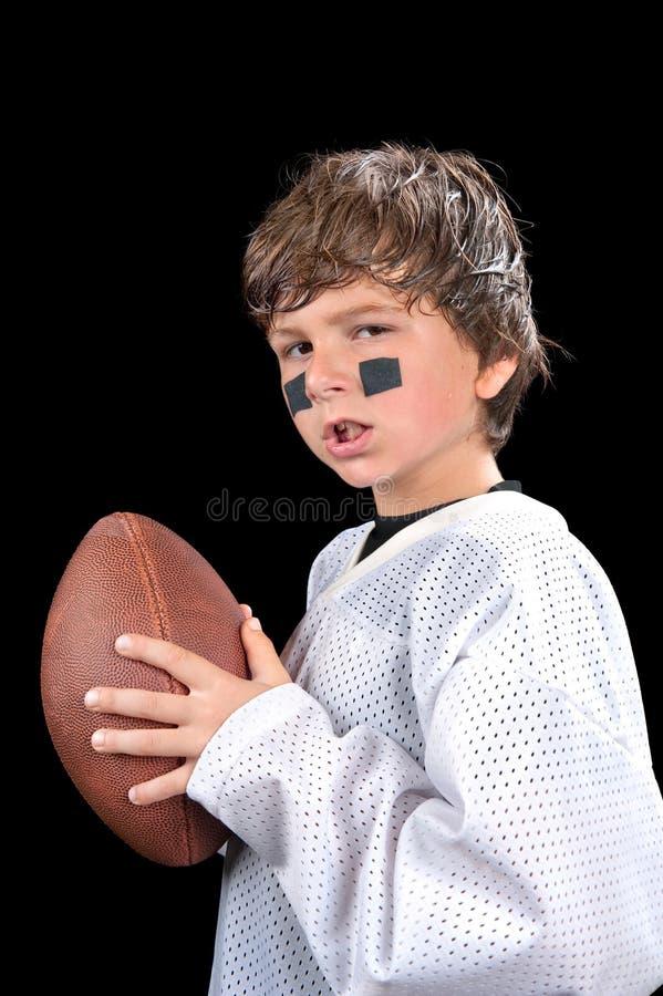 De voetbalster van het kind stock foto's
