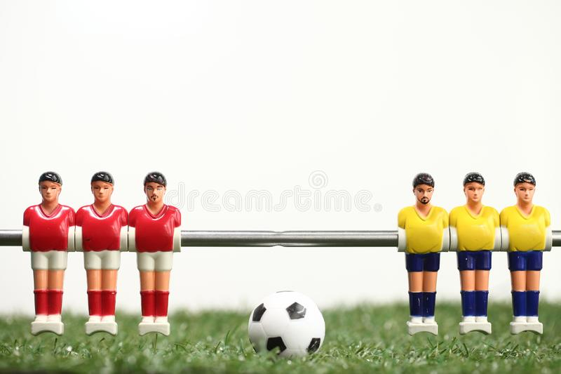 De voetbalsters van de het voetbalsport van de Foosballlijst teame royalty-vrije stock foto