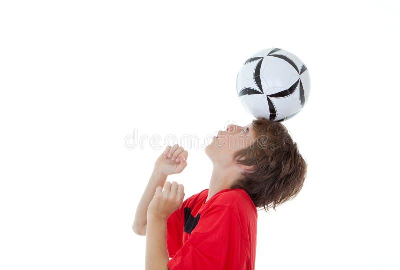 De voetbalvaardigheid van het voetbal royalty-vrije stock fotografie