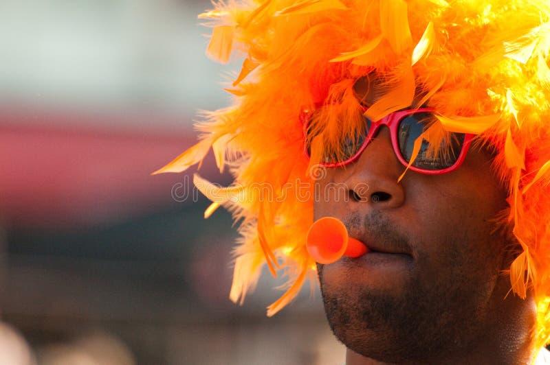 De voetbalventilators van Holland stock foto