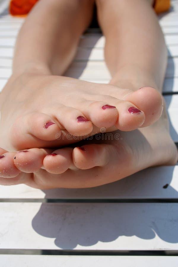 De voeten van de tiener royalty-vrije stock afbeeldingen
