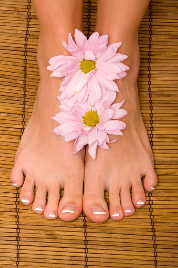 De voeten van de vrouw stock fotografie