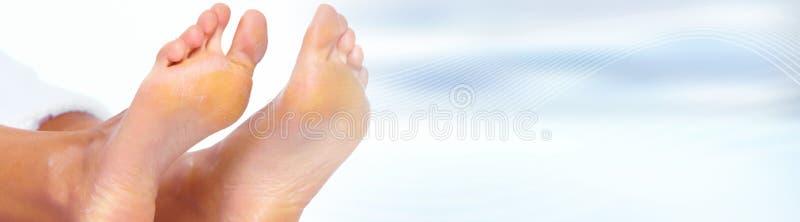 De voeten van de vrouw royalty-vrije stock foto's