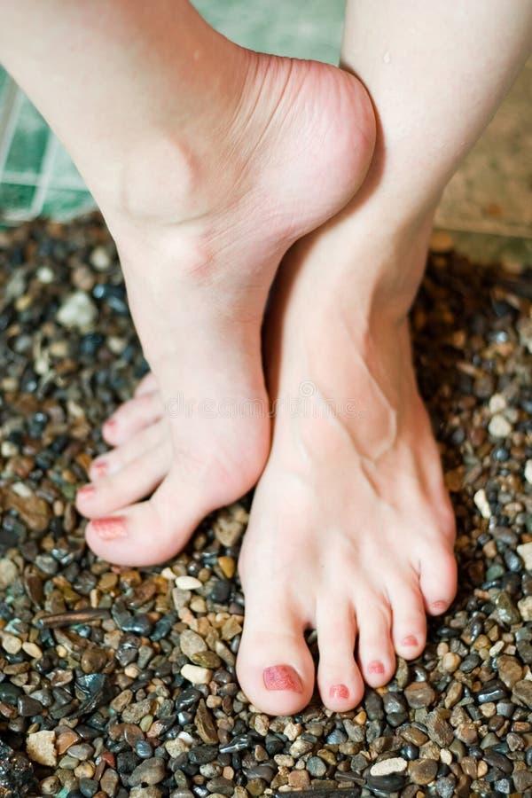 De voeten van de vrouw van Beautifull stock afbeelding
