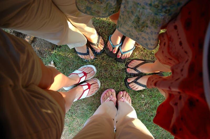 De Voeten van de zomer stock foto's