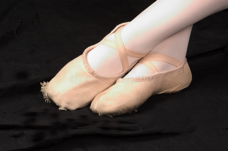 De Voeten Van Het Ballet Royalty-vrije Stock Foto