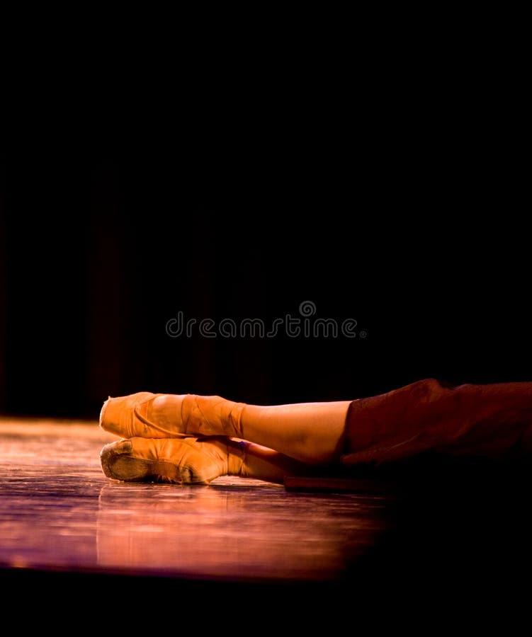 De Voeten van het ballet stock foto