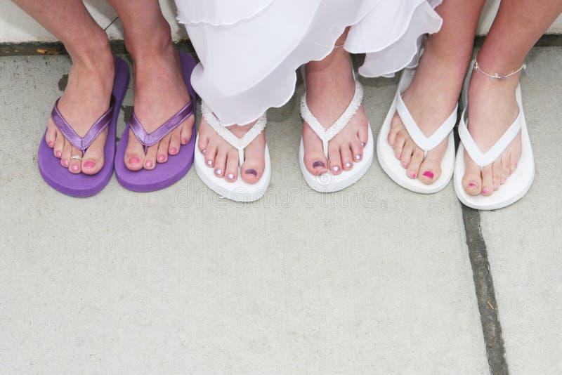 De voeten van het huwelijk royalty-vrije stock afbeelding