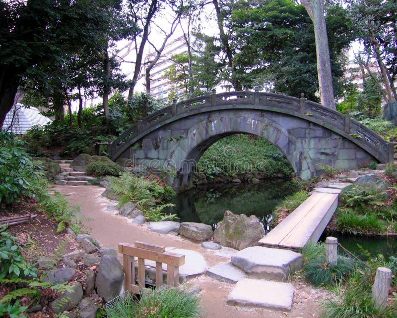 De voetgangersbrug van het metselwerk stock foto's