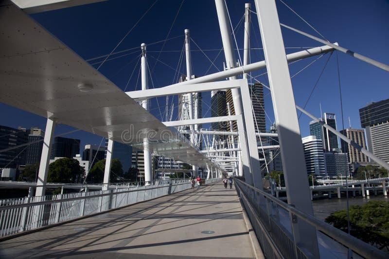 De voetgangersbrug van Kurilpa van de Stad van Brisbane royalty-vrije stock afbeeldingen