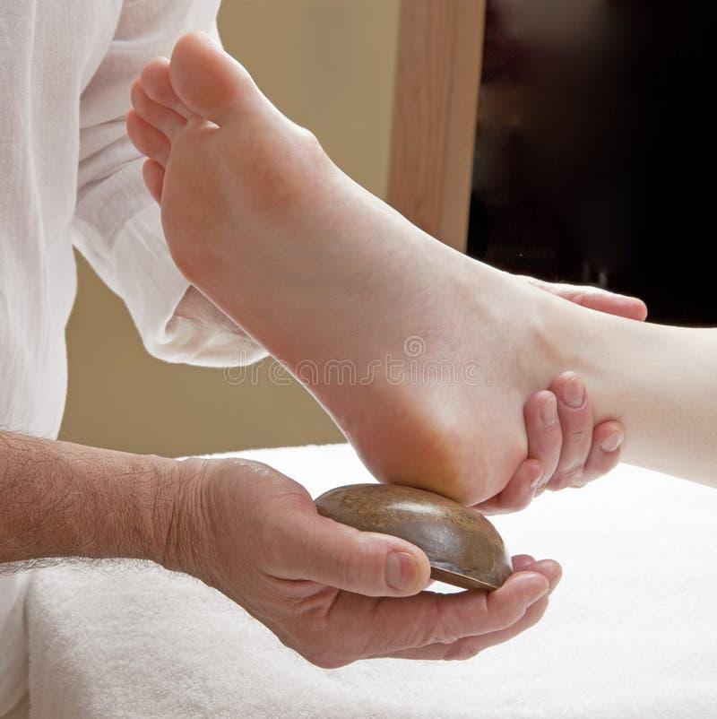 De voetmassage van Kansuacupressure stock foto's