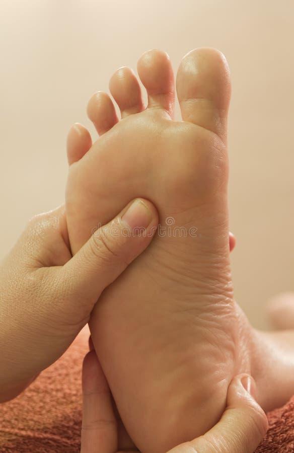 De voetmassage van Reflexology royalty-vrije stock afbeeldingen