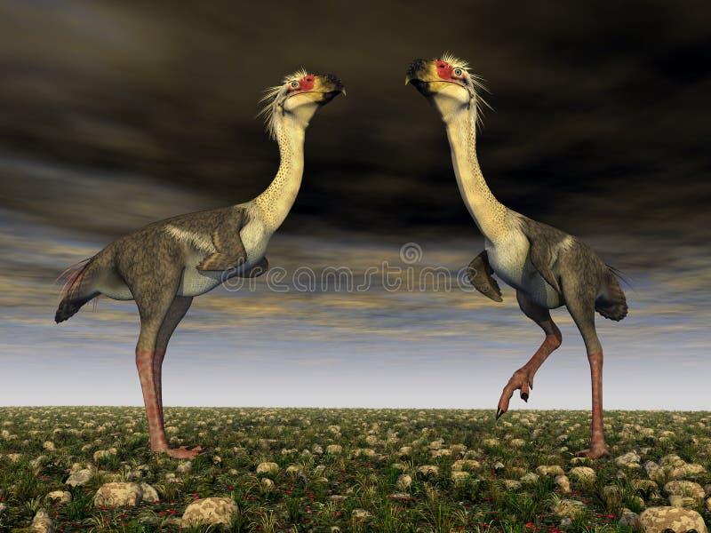De Vogel Phorusrhacos van de verschrikking stock illustratie