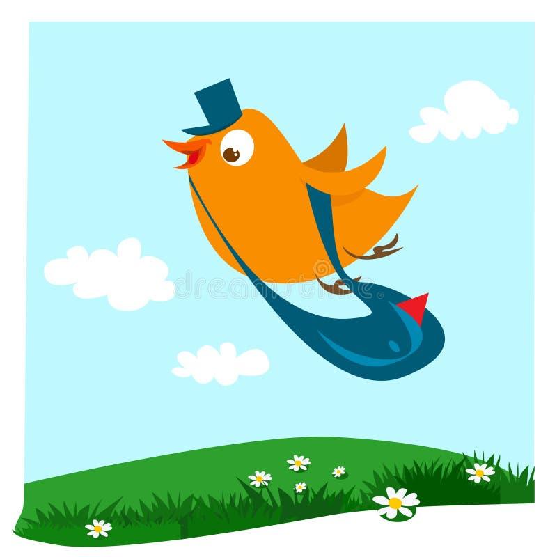 De vogel van de brievenbesteller vector illustratie
