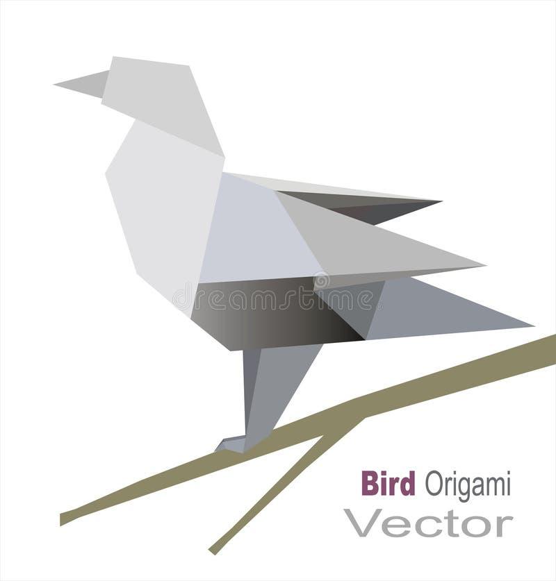 De vogel van de origami royalty-vrije illustratie
