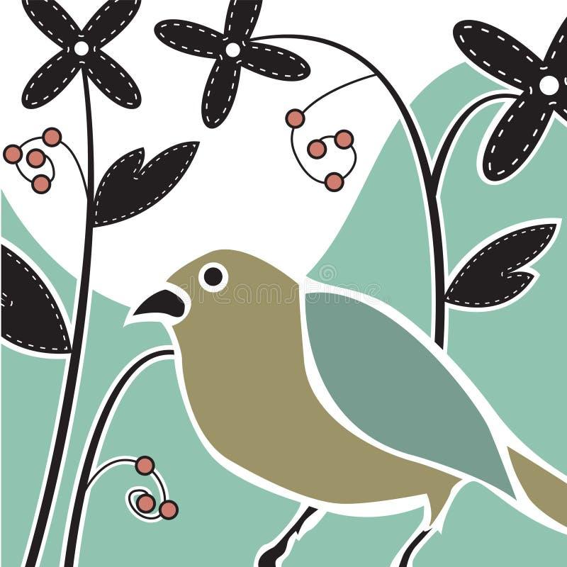 De Vogel van Deco royalty-vrije illustratie