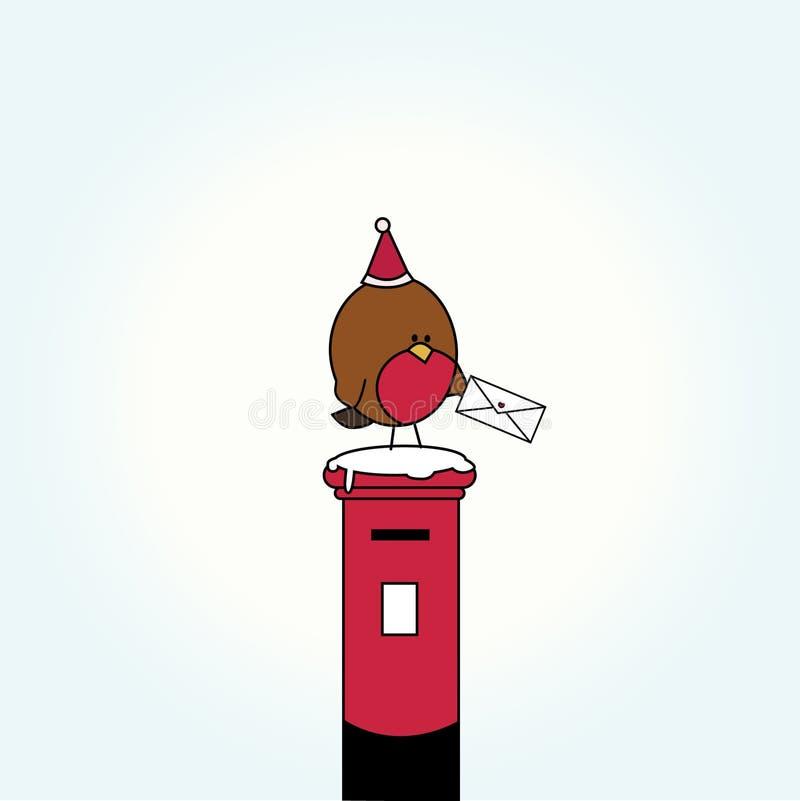 De vogel van het beeldverhaal op brievenbus