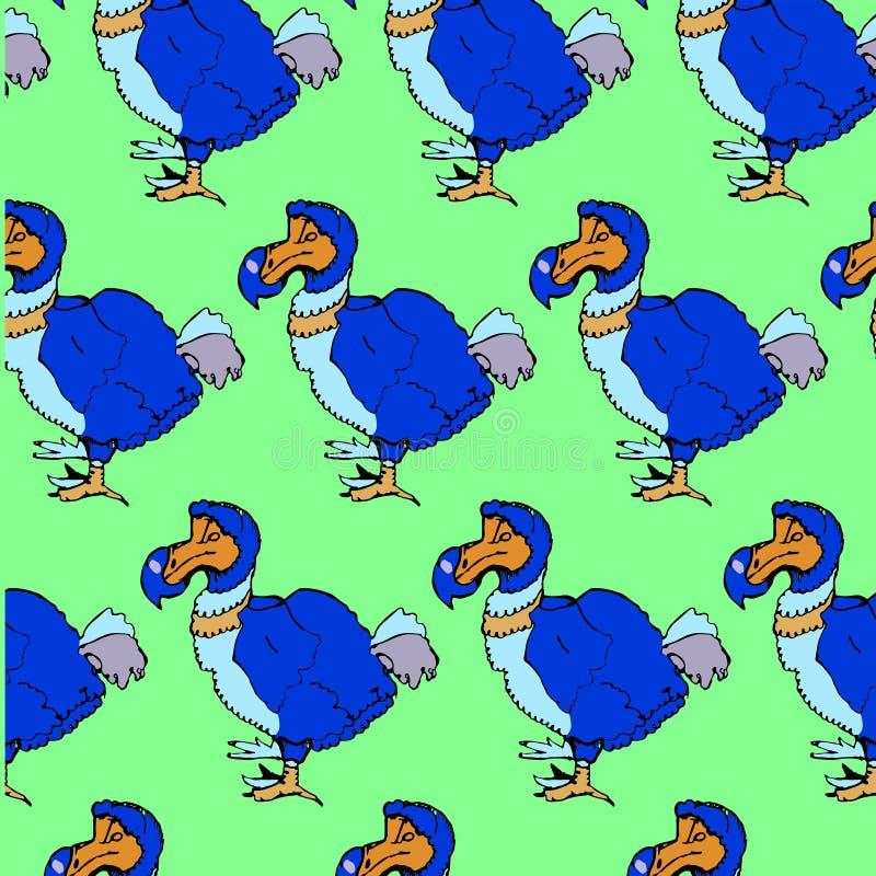 De vogel van het schetsdodo in uitstekende style2 royalty-vrije stock afbeelding