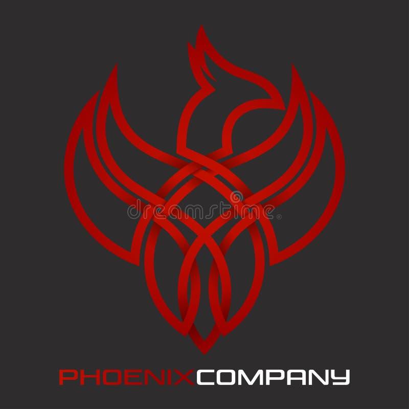 De Vogelembleem van Phoenix Vector illustratie royalty-vrije illustratie