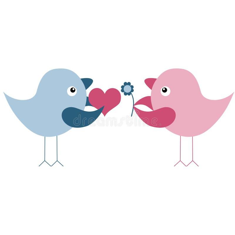 De vogels van de liefde royalty-vrije illustratie