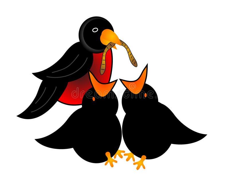 De Vogels van de moeder en van de Baby stock illustratie