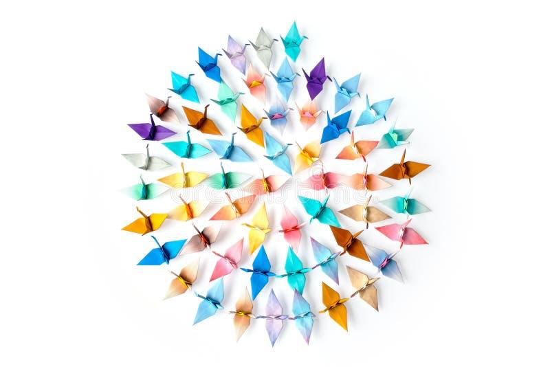 De vogels van de origami stock foto's