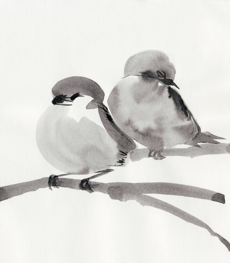 De vogels van de slaap vector illustratie