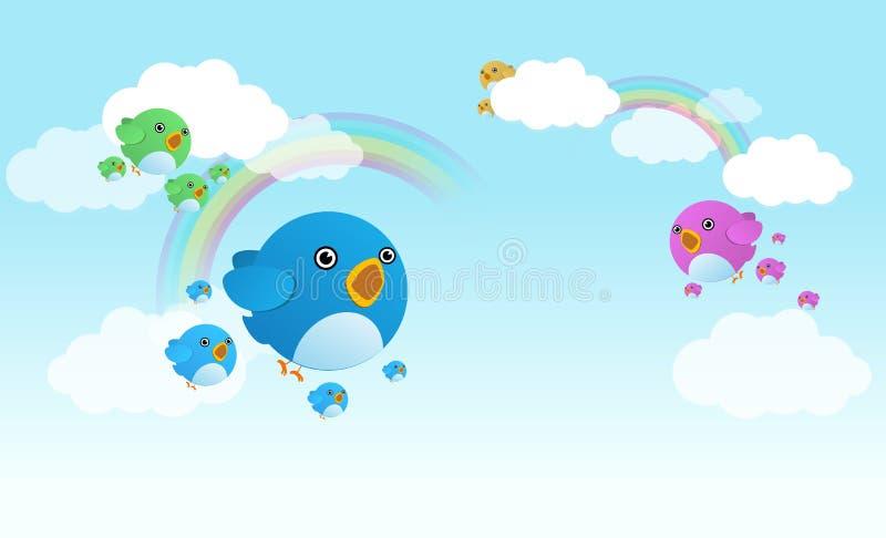De vogels van de tjilpen stock illustratie