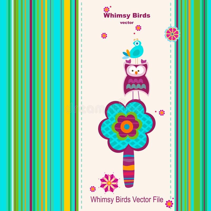 De vogels van Whimsy stock illustratie
