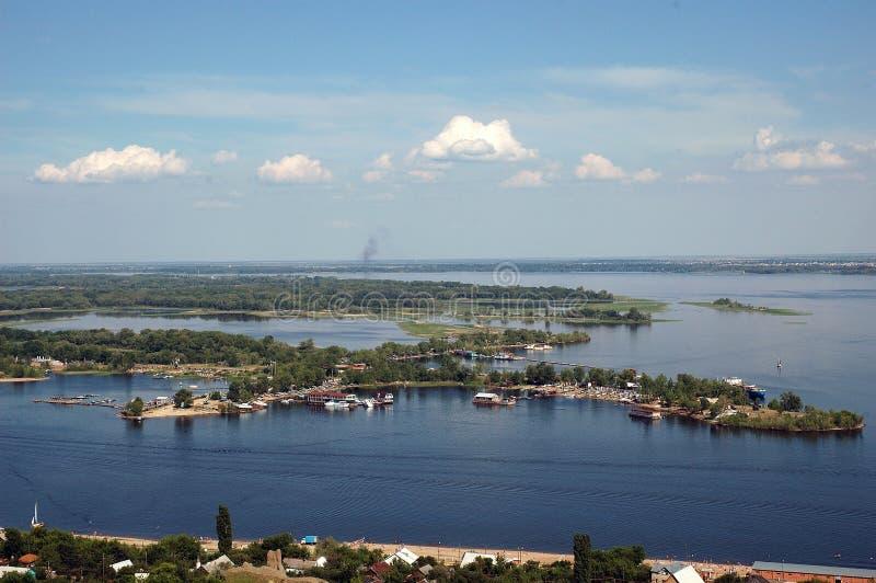 De Volga open plekken. royalty-vrije stock foto