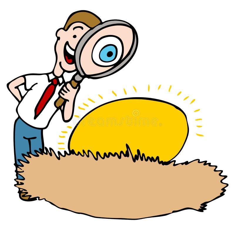 De volgende Inspectie van het Ei vector illustratie