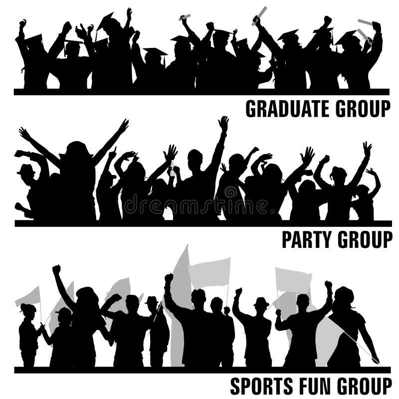 De volkeren van de groep stock illustratie