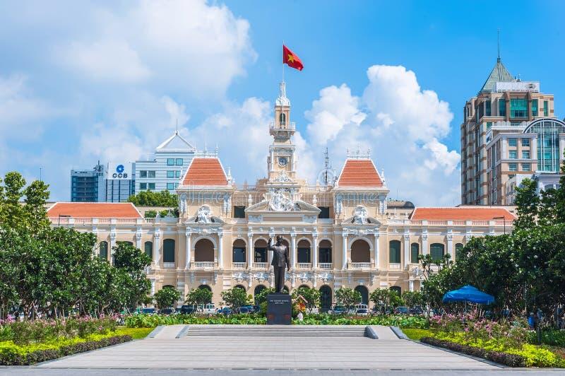De Volkerencomité van Ho-Chi-Minh-Stad de bouw stock afbeelding